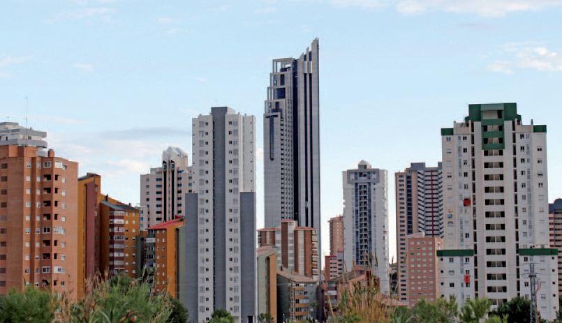 Resultado de imagen de skyline de benidorm