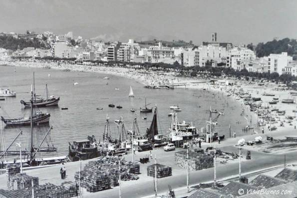 Port of Blanes in the late 1950s