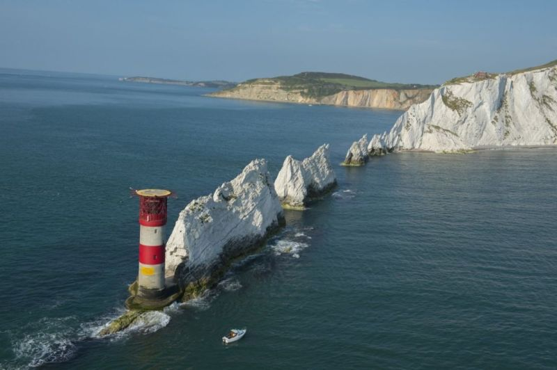 View of the Needles off the Isle of Wight
