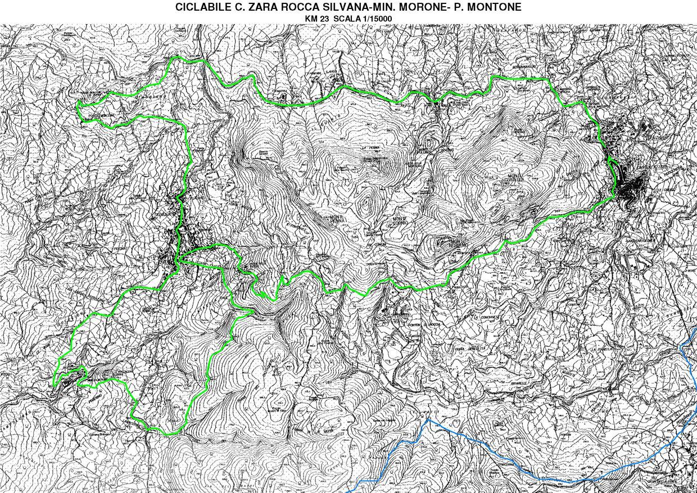 Percorso Ciclabile Castell'Azzara, Rocca Silvana, Miniere del Morone, P. Montone (km 23)