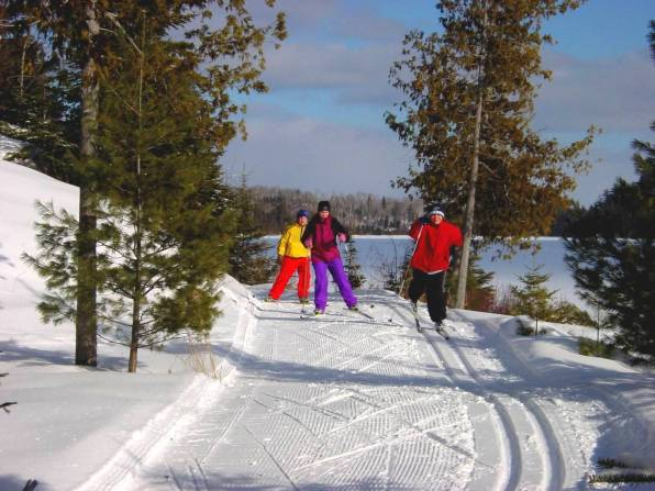 Golden Eagle Lodge & Nordic Center cross country skiers