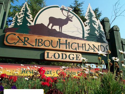 Caribou Highlands Lodge Entrance Sign