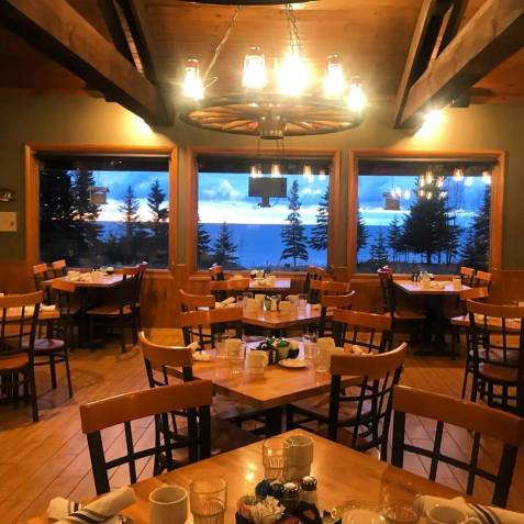Cascade Lodge Restaurant Dining Room with Lake Superior view