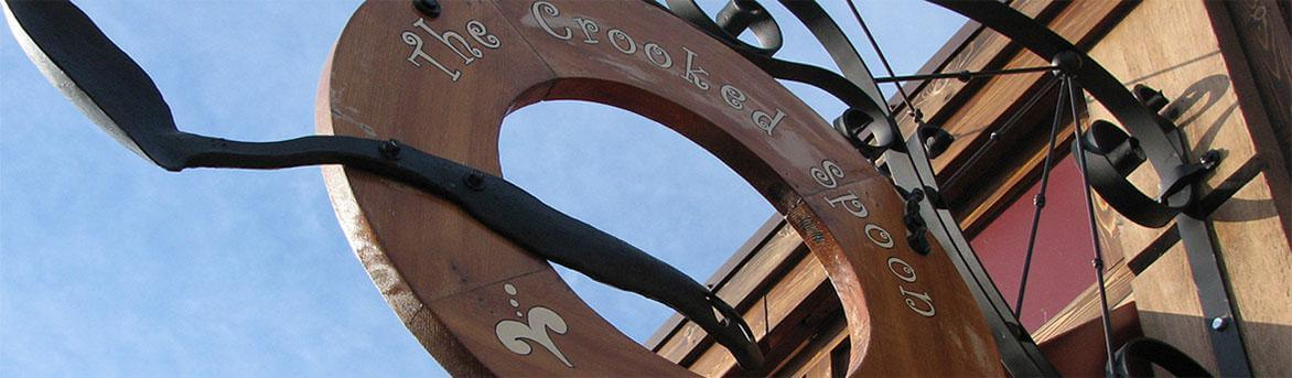 The Crooked Spoon outdoor sign