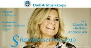 """SMIA: Showkonserten 2019 med """"Bettan"""" og Drøbak Musikkorps @ Smia Flerbrukshus"""