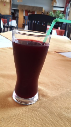 Chicha Morada, a beverage made of ears of purple maize.