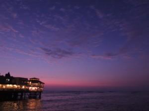 Sunset in Lima, Peru