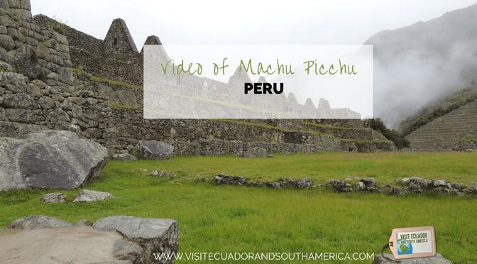Watch this video of impressive Machu Picchu in Peru!