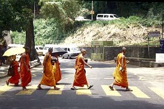 Monks in Kandy, Sri Lanka. www.visitedplanet.com