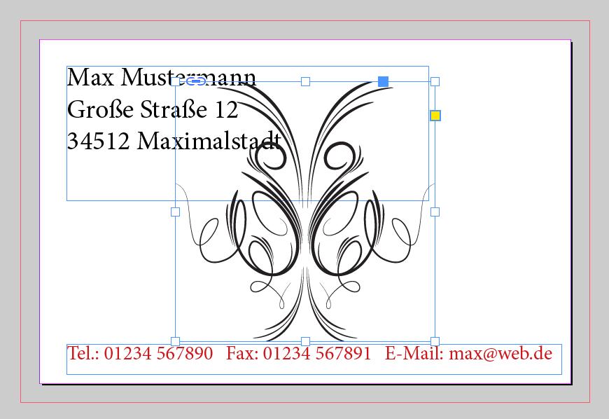 Bild platziert in InDesign