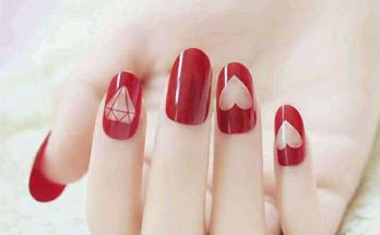 Red And White Polka Simple Nail Design Archives Fashion Trends