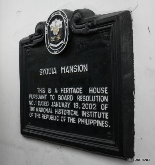 Syquia Mansion Landmark