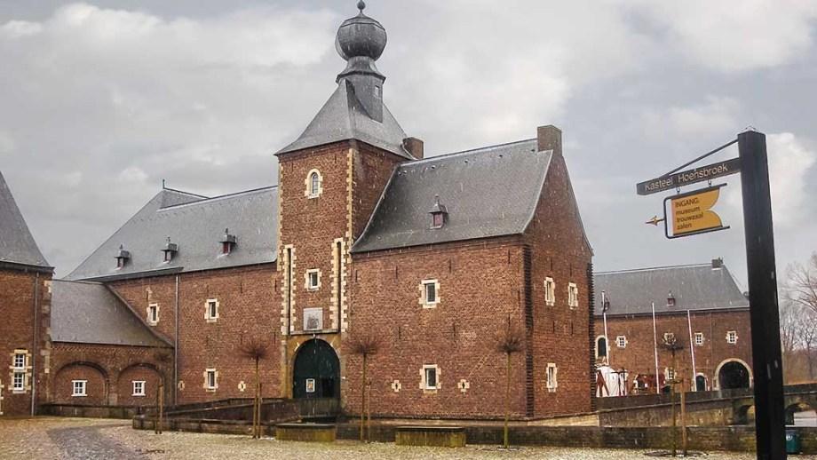 Kasteel Hoensbroek, one of the most famous Dutch castles. Heerlen. Netherlands