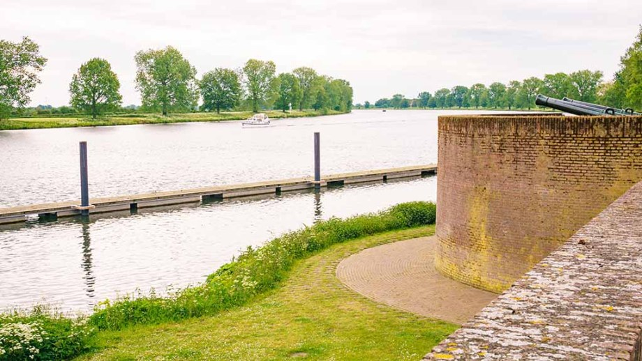 Leftovers of the fortified city of Grave in Noord Brabant, The Netherlands