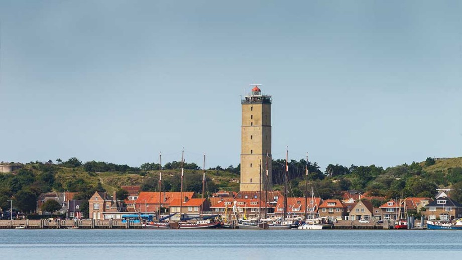 The oldest lighthouse of The Netherlands can be seen in the middle of the village of West Terschelling the island of terschelling