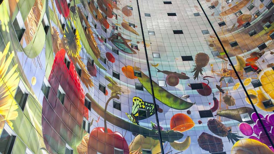 Markthal in Rotterdam, The Netherlands