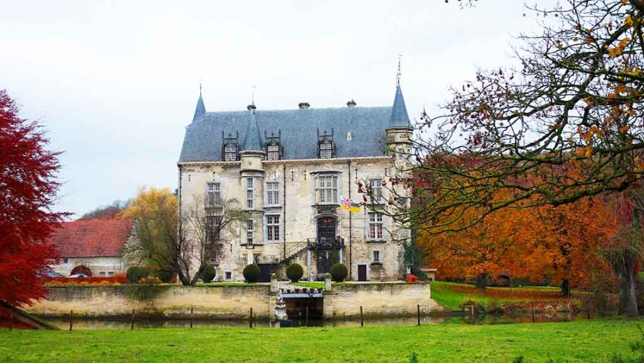 The Castle of Schaloen in the town of Valkenburg in the province of Limburg,The Netherlands during autumn