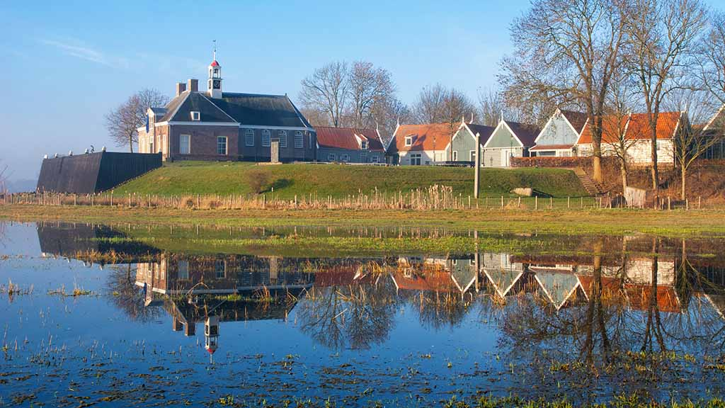 A view on the former island of Schokland was the first UNESCO World Heritage Site in the Netherlands