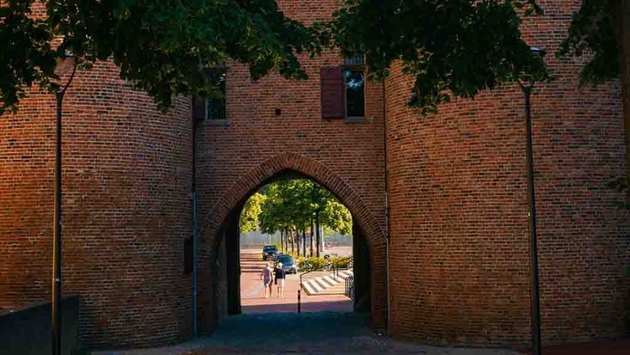 The only remaining city gate in the city of Arnhem, Gelderland, The Netherlands