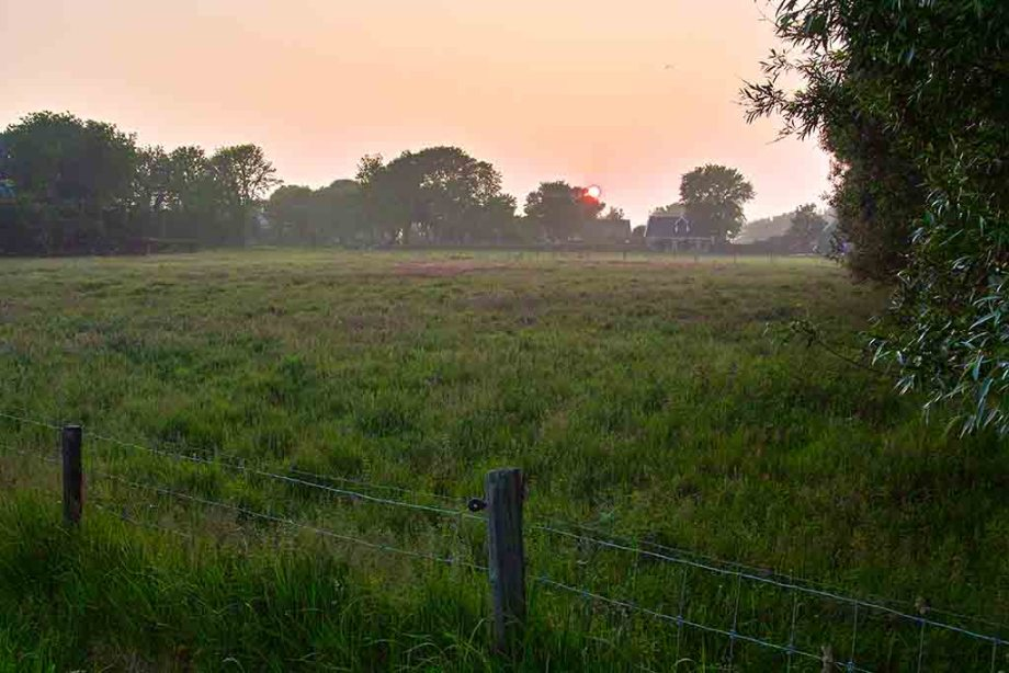 Wieringen in the evening light: sunset on the former Dutch island of Wieringen, North Holland, The Netherlands