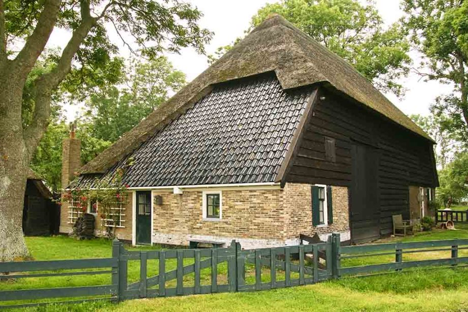 Old, traditional farmhouse on former Dutch island of Wieringen, 1,5 hour north of Amsterdam, The Netherlands