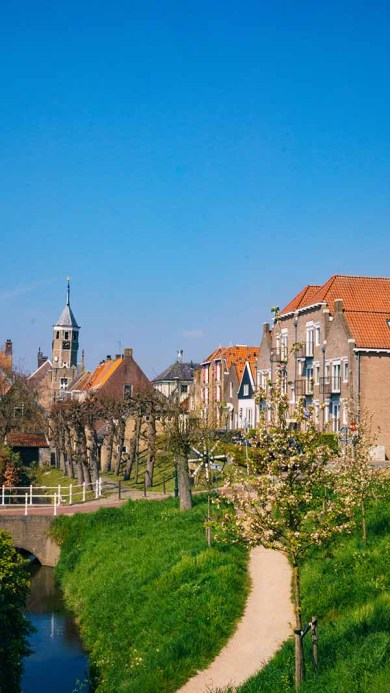 A view on the Dutch village of Willemstad (Noord/ North- Brabant), The Netherlands