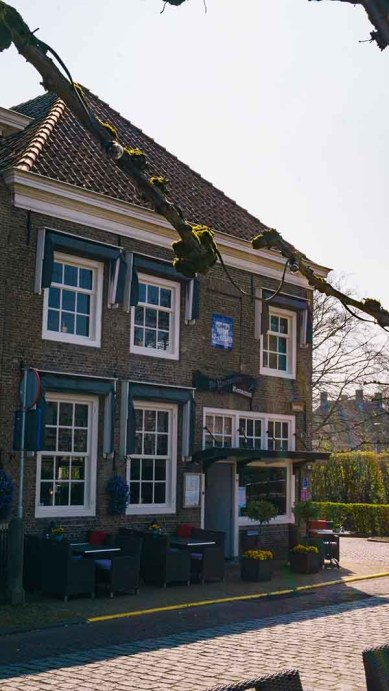 A cute Dutch restaurant in the town of Willemstad (Noord/ North- Brabant), The Netherlands