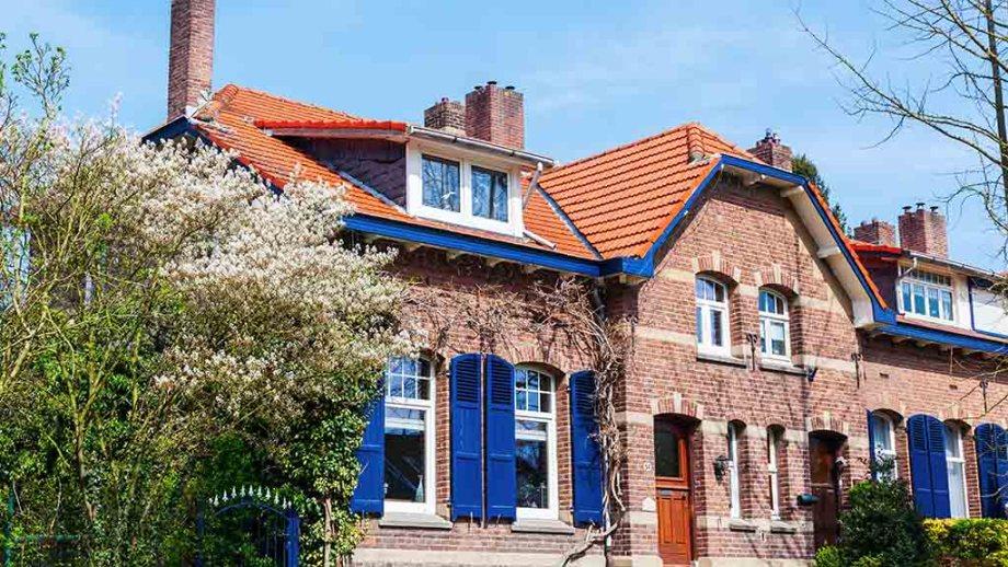 old residential buildings in Heerlen, The Netherlands