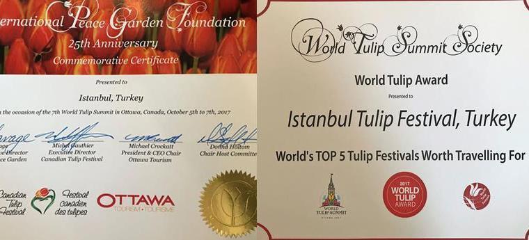 Istanbul Metropolitan Municipality won Tulip award in Canada summit.