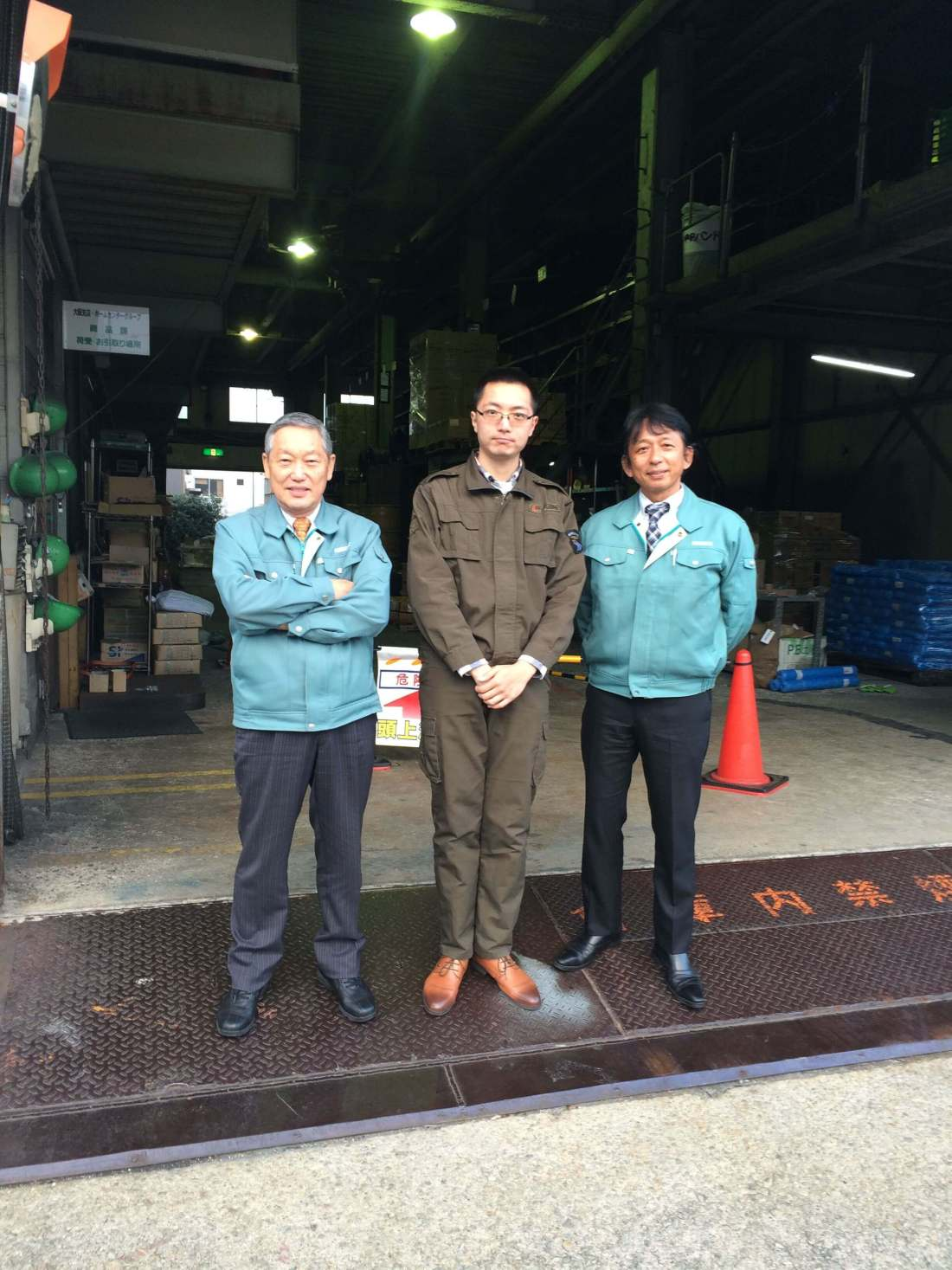Our sales manager Mr. Hao Liang with Kondotec Board Manager Mr. Yamada and Osaka branch manager Mr. Asagawa
