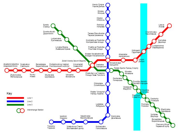 Image result for kiev metro map