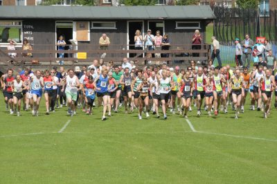 Start of the road race at Wenlock Olympian Games