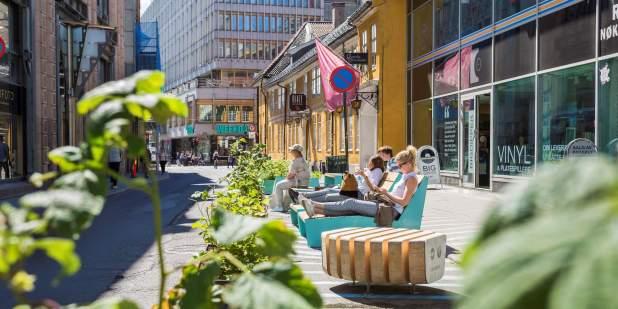 Benches in Møllergata