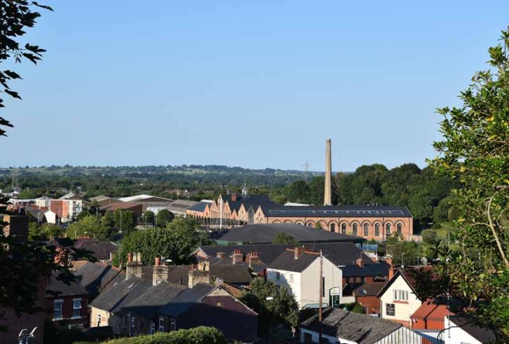 View of Cambrian Works from the Castle