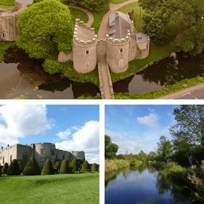 moated castles Shropshire
