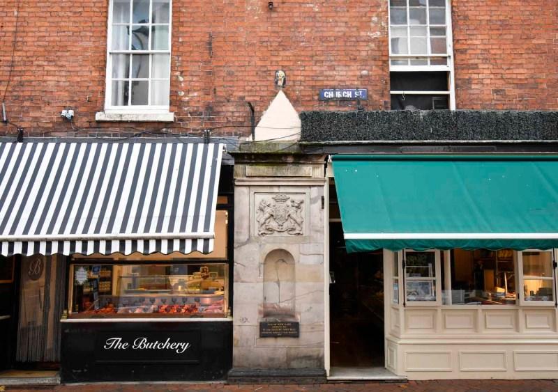 Shops on Church Street Oswestry