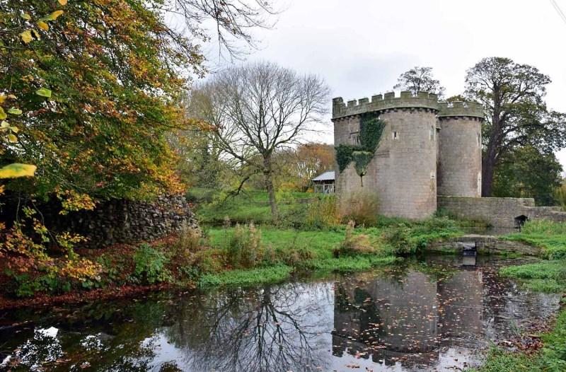 Whittington Castle in autumn