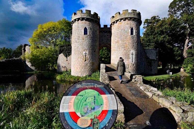 information board Whittington Castle