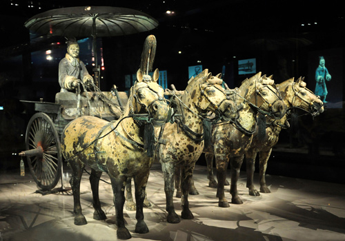 Bronze Chariots and Terracotta Horses,Xi'an Tours,China Tours.