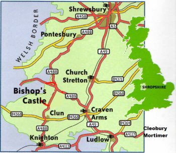 South Shropshire Location Map