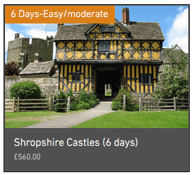 Wheely Wonderful Cycling's Shropshire Castles 6 day cycling holiday