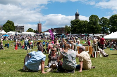 Eating at Shrewsbury Food Festival