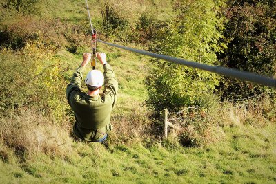 Zip Wire in the Shropshire Hills