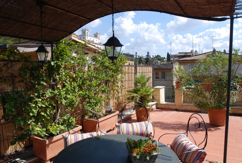 Apartment Margerita One Of The Most Beautiful For Your Stay In Rome On Two Levels With A Fantastic Terrace View Villa Medici And