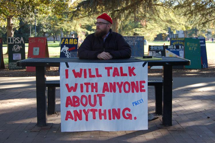 Steve Lambert I WILL TALK WITH ANYONE... photo