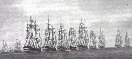La flotta francese lascia l'isola
