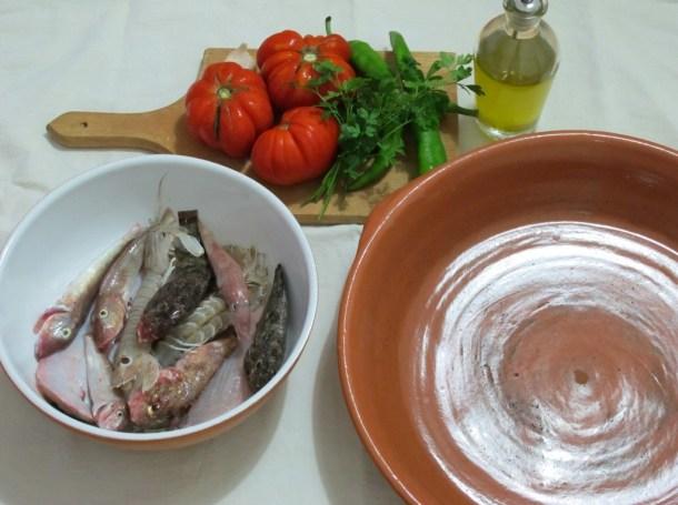 Gli ingredienti del brodetto