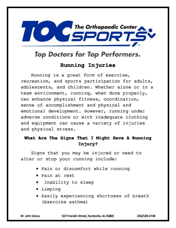 Running_Injuries | The Orthopaedic Center (TOC)