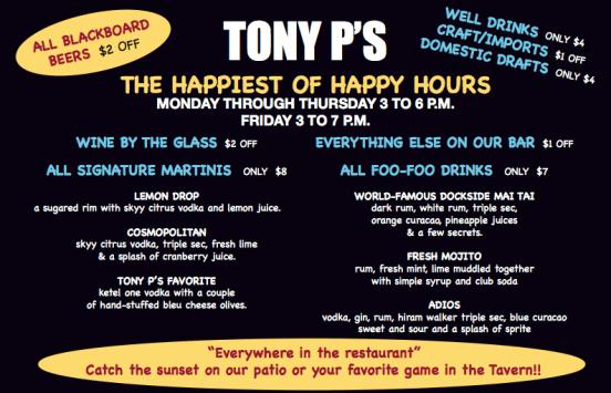Tony P's Happy hour
