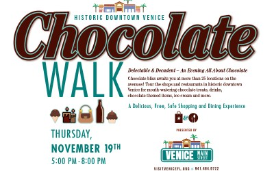 Chocolate Walk Downtown, Nov 19, 5-8PM